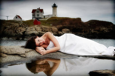 Nubble Lighthouse Photograph - Romance by Rick Berk