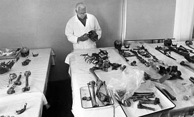 Romanov Skeletons, Forensic Examination Print by Ria Novosti