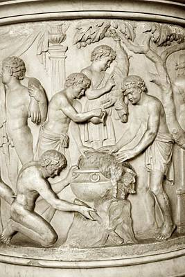 Italian Pottery Photograph - Romans Cooking, Detail From Urn by Sheila Terry