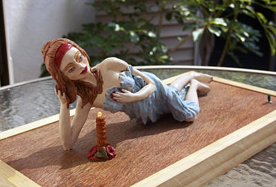 Clay Modeling Sculpture - Romantic 2 by Yelena Rubin