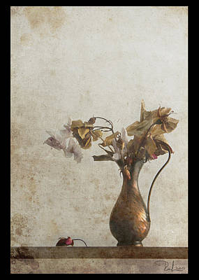 Photograph - Romantic Old Bouquet 2   Card by Raffaella Lunelli