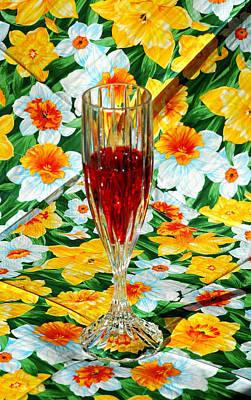 Glass Photograph - Romantic Ruby by LeeAnn McLaneGoetz McLaneGoetzStudioLLCcom