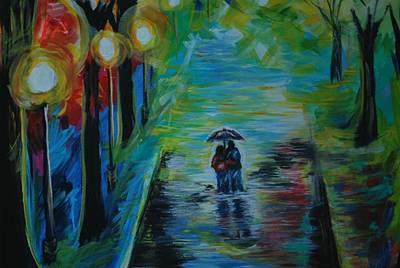 Painting - Romantic Stroll Series II by Leslie Allen