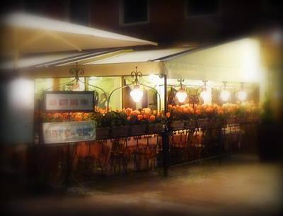 Roses Photograph - Romantic Venetian Restaurant by Carla Parris