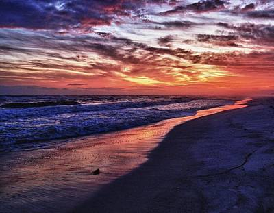 Romar Beach Sunset Art Print