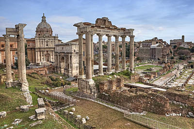 Capitoline Photograph - Rome Forum Romanum by Joana Kruse