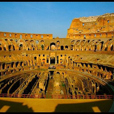 Golden Wall Art - Photograph - Rome Italy! Coliseum by Levi Golden