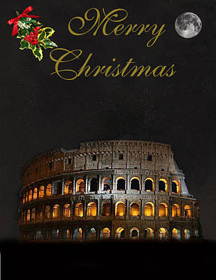 Mixed Media - Rome Merry Christmas by Eric Kempson