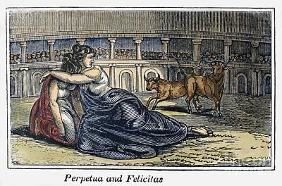 Rome: Perpetua & Felicitas Art Print by Granger