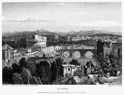 1833 Photograph - Rome: Scenic View, 1833 by Granger