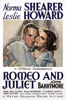 Romeo And Juliet, Leslie Howard, Norma Art Print by Everett