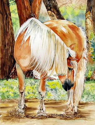 Horse Images Painting - Romeo's Veil by Maria Barry