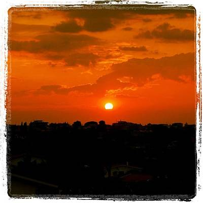 Sunset Wall Art - Photograph - Rome's Sunset by Luisa Azzolini