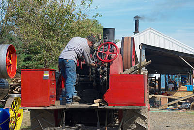 Photograph - Romley Getting Ready To Power The Saw by Mark Dodd