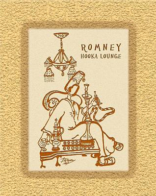 Digital Art - Romney Hooka Lounge by Atheena Romney