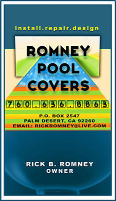 Digital Art - Romney Pool Cover's by Atheena Romney
