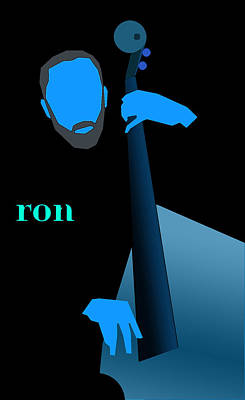 Digital Art - Ron Carter Blue by Victor Bailey