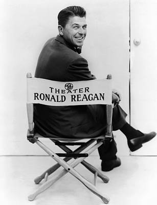 Ronald Reagan Was Host Of The General Print by Everett