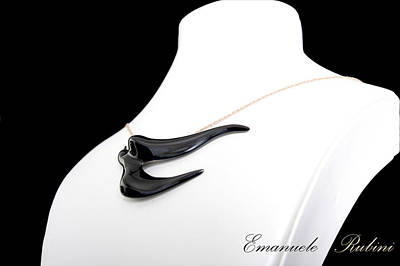Gioielli Jewelry - Rondine Nera  by Emanuele Rubini