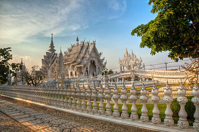 Rong Khun Temple Art Print by Adrian Evans