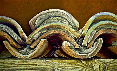 Roof Tiles Art Print by Gwyn Newcombe