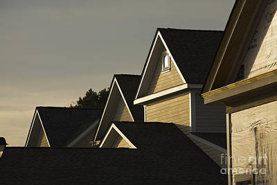 Rooflines At Sunset Art Print