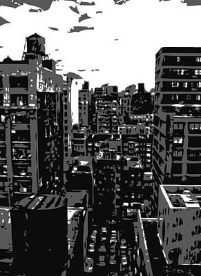 Rooftop Bw3 Art Print by Scott Kelley