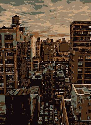 Rooftop Color 6 Art Print