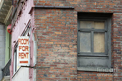 Photograph - Room For Rent Vancouver Chinatown by John  Mitchell