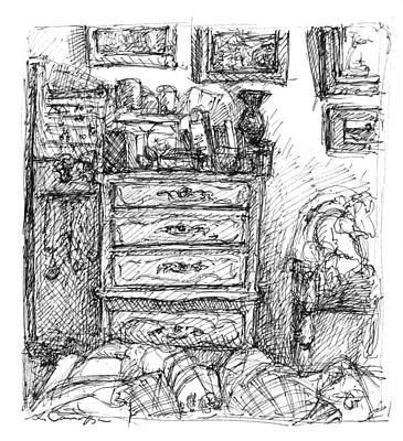 Room Study Art Print by Elizabeth Carrozza