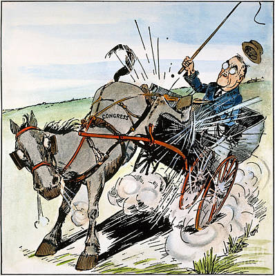 Roosevelt & Donkey, 1937 Print by Granger