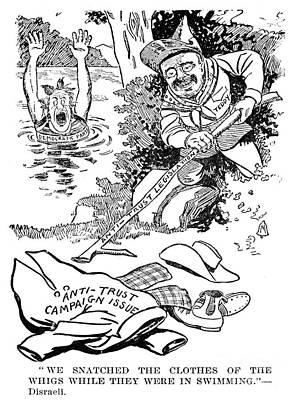 Roosevelt Cartoon, 1902 Art Print by Granger
