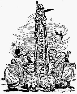 Roosevelt Cartoon, C1904 Art Print by Granger