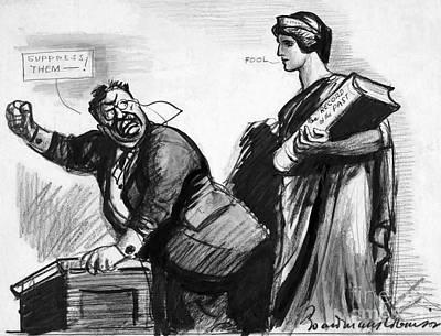Roosevelt Cartoon, C1916 Art Print by Granger