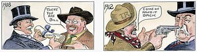Roosevelt/taft Cartoon Art Print by Granger
