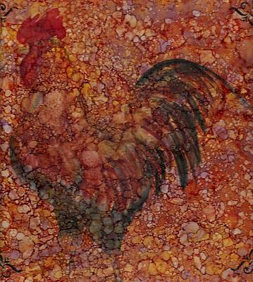 Rooster Painting - Rooster 4 Large by Rosie Phillips