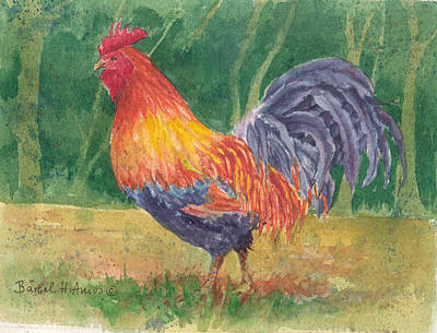 Painting - Rooster by Barbel Amos