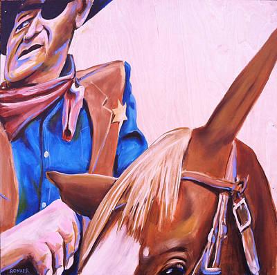 True Grit Painting - Rooster by Buffalo Bonker