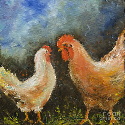 Painting - Rooster Gets Last Word by Pati Pelz