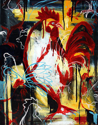 Painting - Rooster by Leanne Wilkes