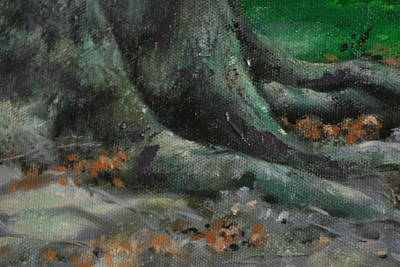 Tree Roots Painting - Roots by Linda Eades Blackburn