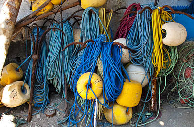 Photograph - Rope And Floats by Joe  Palermo