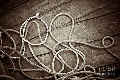 Photograph - Ropes by Silvia Ganora