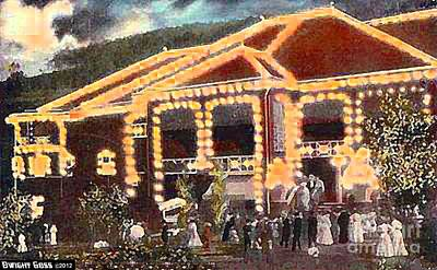 Painting - Rorick's Glen Theatre At Night In  Elmira N Y 1910 by Dwight Goss