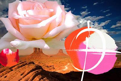 Rosa Desert Crucio Art Print by Geronimo
