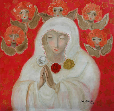 Painting - Rosa Mistica by Maria Matheus Maria Santeira