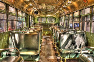 Rosa Parks Bus Inside Dearborn Mi Art Print by Nicholas  Grunas