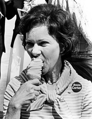 Rosalynn Carter Enjoys An Ice Cream Print by Everett