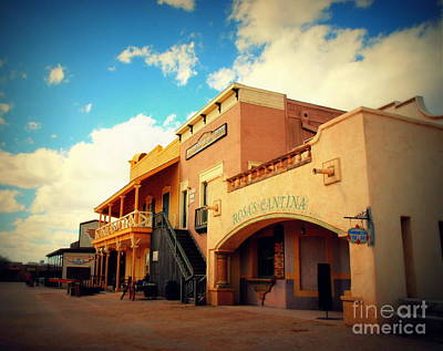 Mexican Cantina Photograph - Rosas Cantina In Old Tuscon Az by Susanne Van Hulst