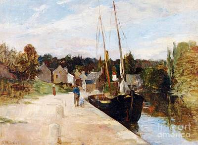 Morisot Painting - Rosbras In Brittany by Berthe Morisot